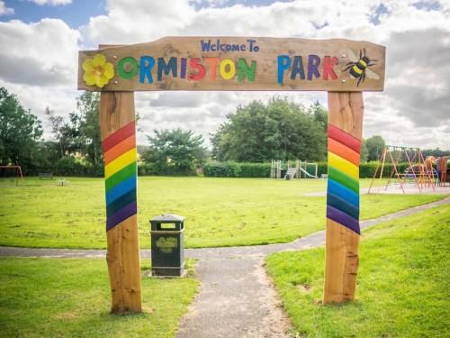 Ormiston Park colourful hand carved entrance wildchild designs