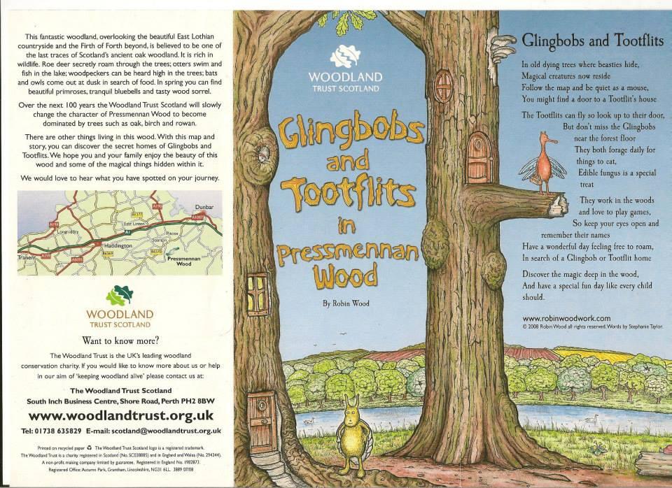 Pressmennan woods leaflet by Wildchild Designs