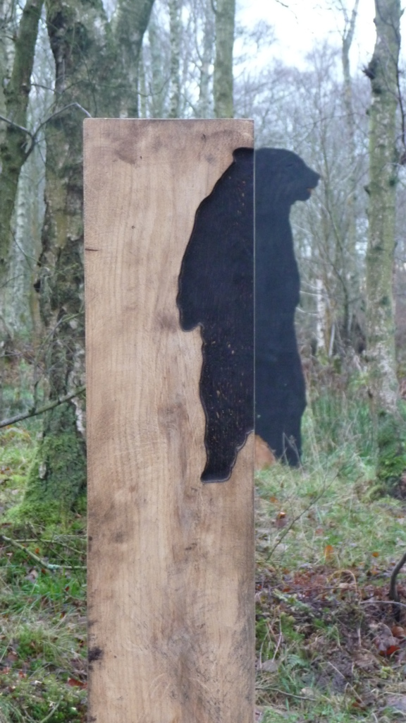 bear forest artwork wood carving wildchild designs