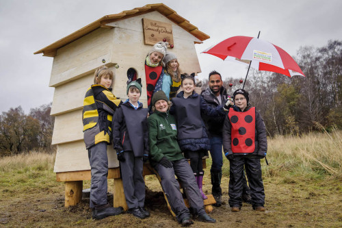 bellsquarry community orchard bee hive wooden hut wildchild designs