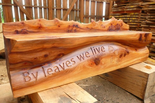 bespoke hand carved art bench seating wildchild designs