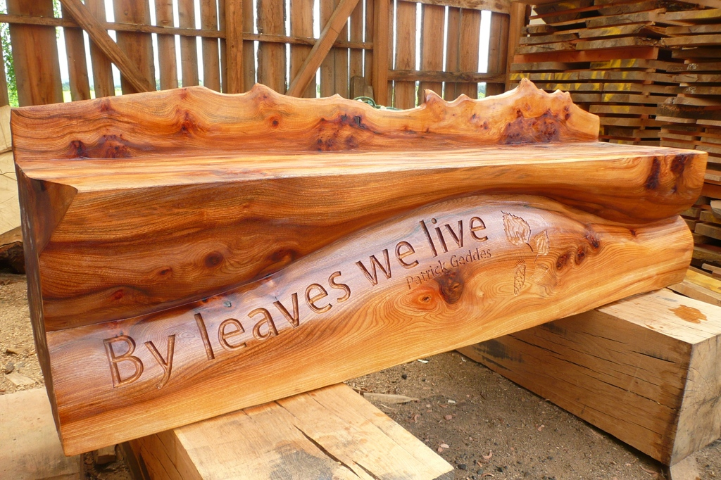 bespoke hand carved art bench seating wildchild designs