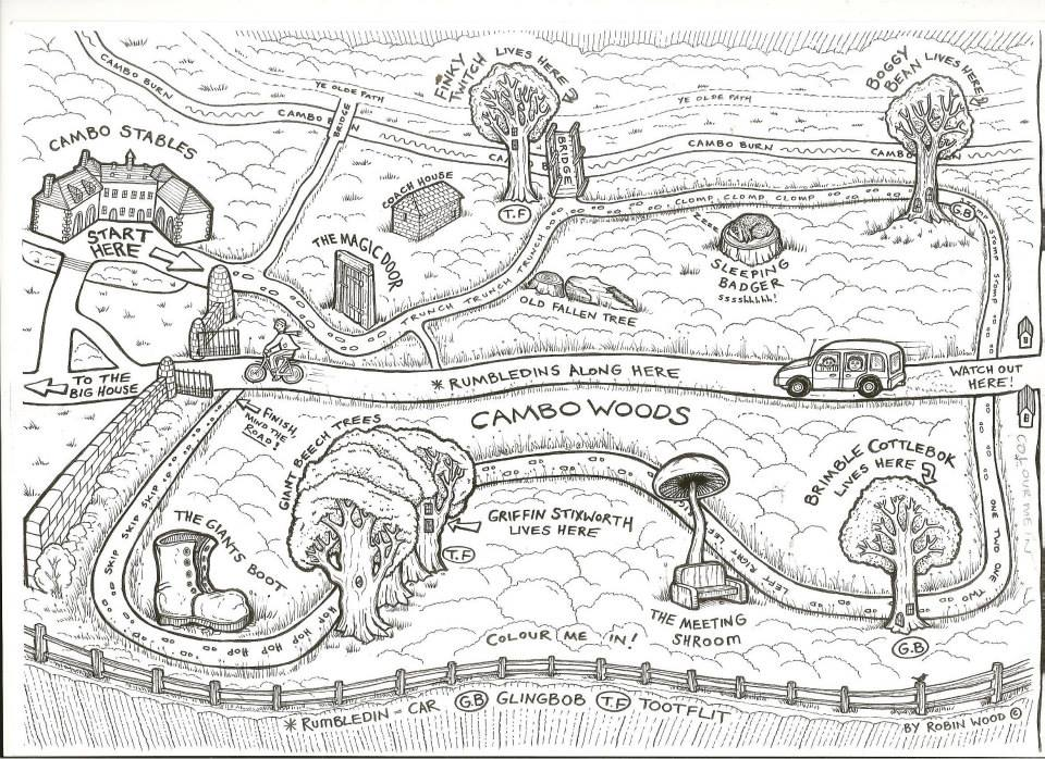 Cambo woods map by Wildchild Designs