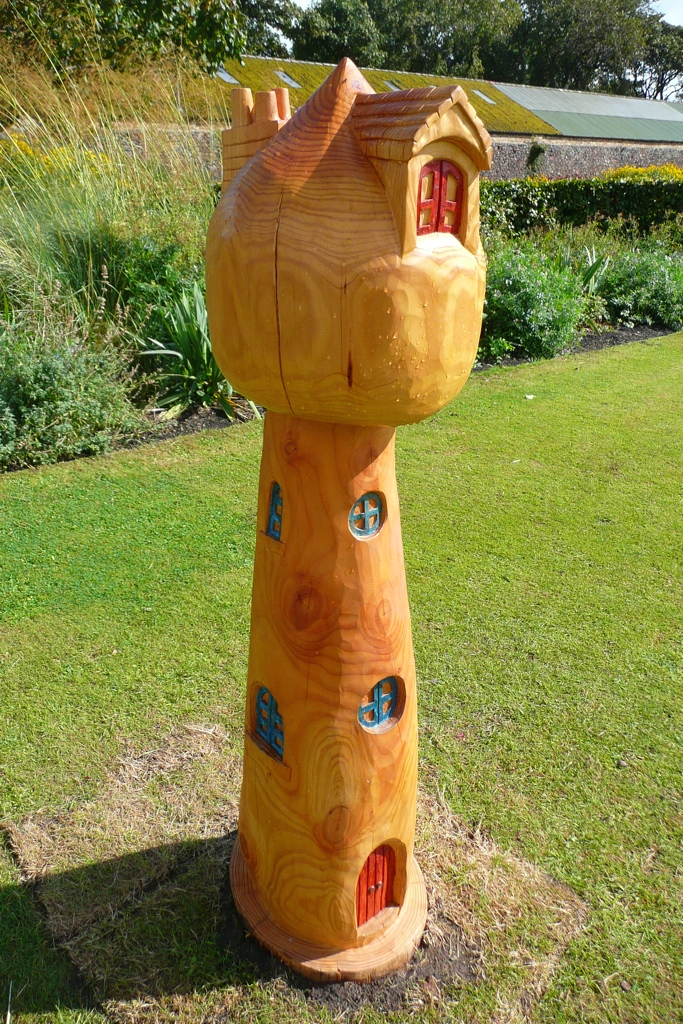 fairy mushroom carved park dunbar sculpture wildchild designs