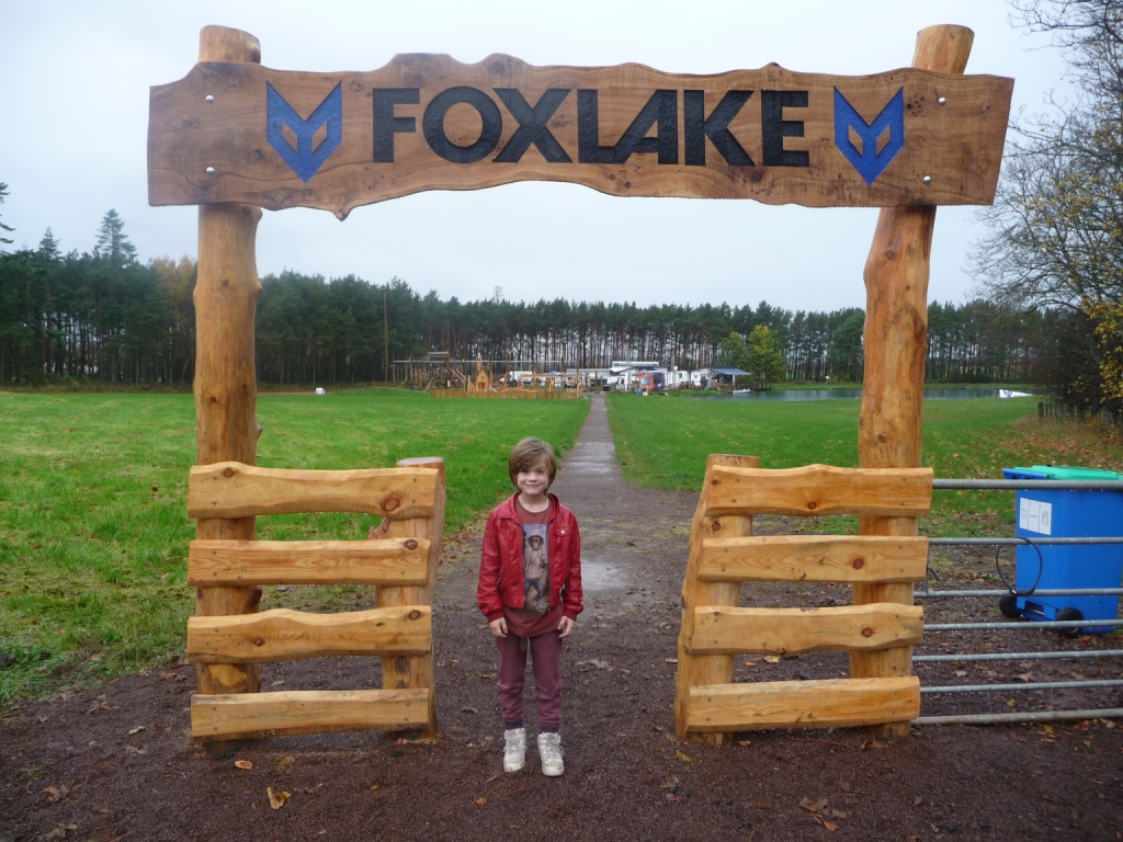 foxlake adventures bespoke entrance sign wildchild designs