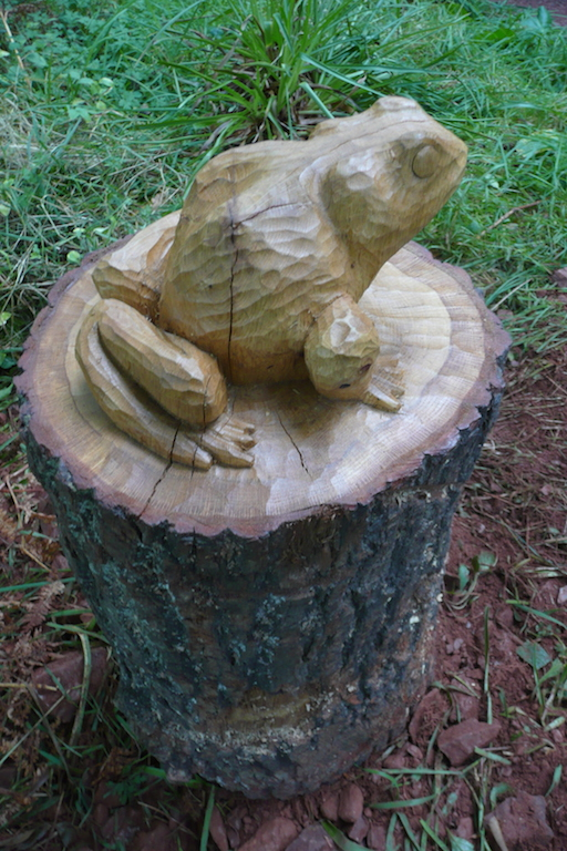 frog bespoke wood carving sculpture robin wood