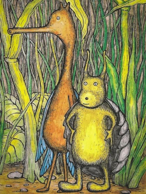 glingbobs and tootflits robin wood illustration