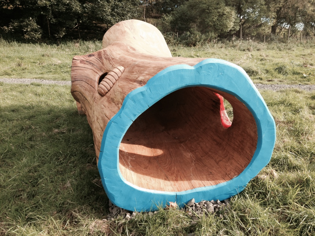 kids play structure natural tree trunk wildchild designs