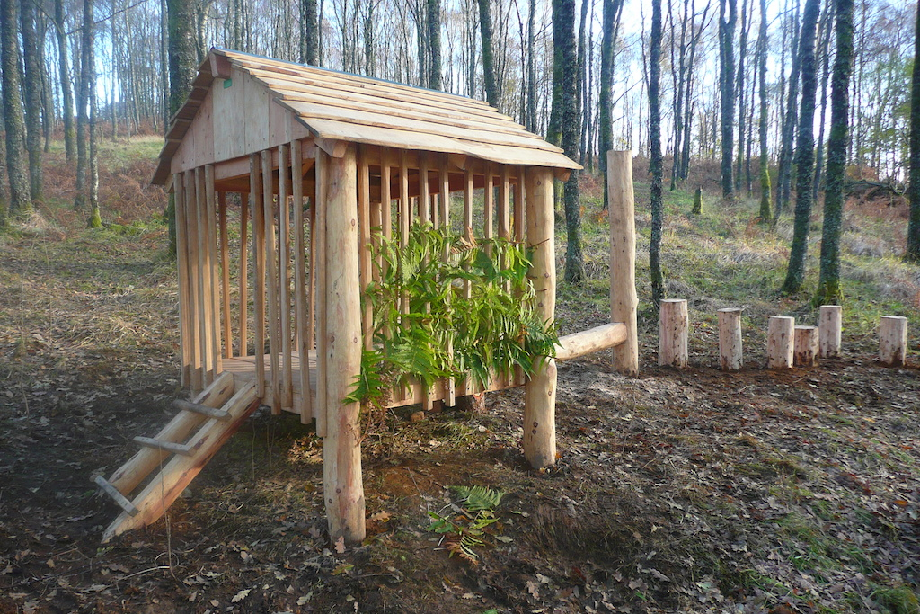 kids play structure wood hut wildchild designs