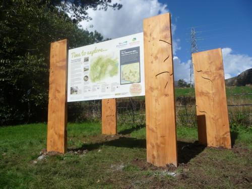 overtoun estate lang craigs information signs wildchild designs