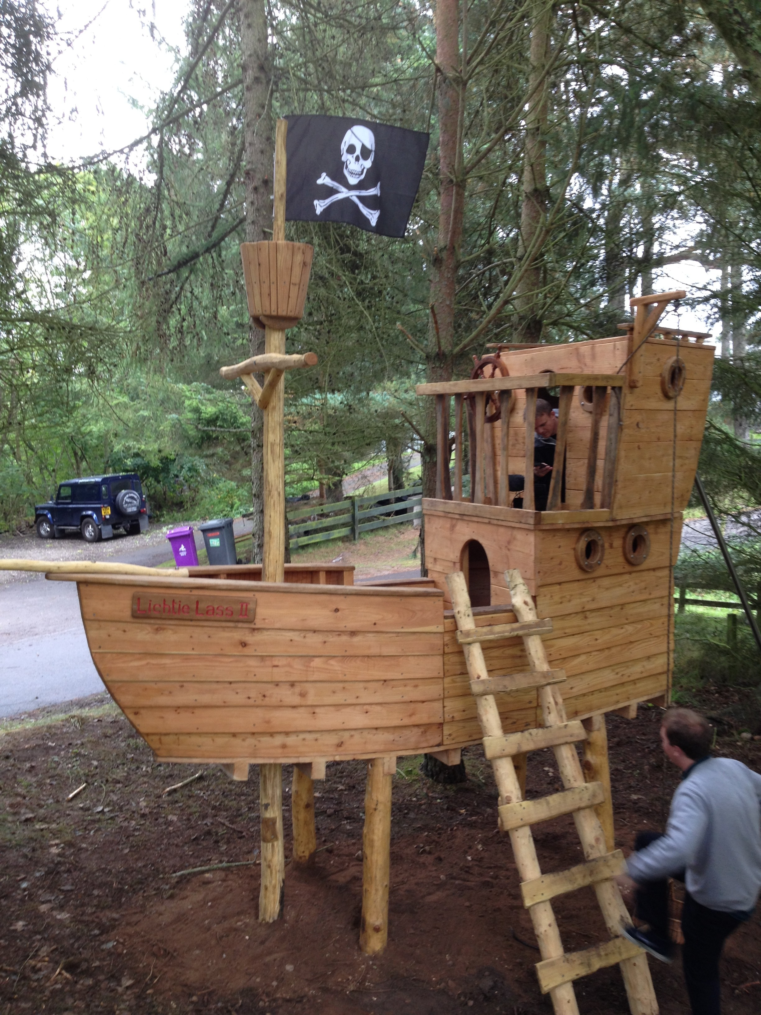 pirate ship childrens play structure bespoke wildchild designs