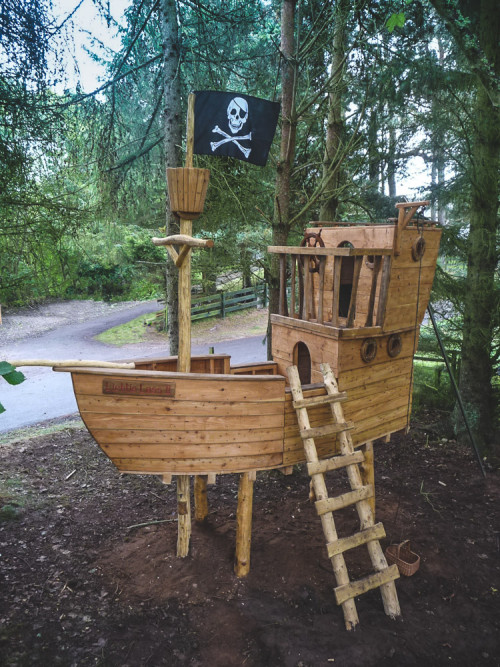 play structure wooden pirate ship