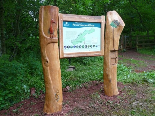 pressmennan wood bespoke sign robin wood
