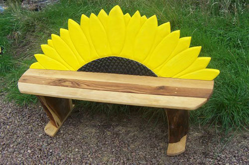 sunflower bespoke wooden bench seating wildchild designs