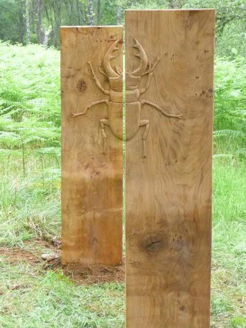 wood carved scarab optical illusion wildchild designs