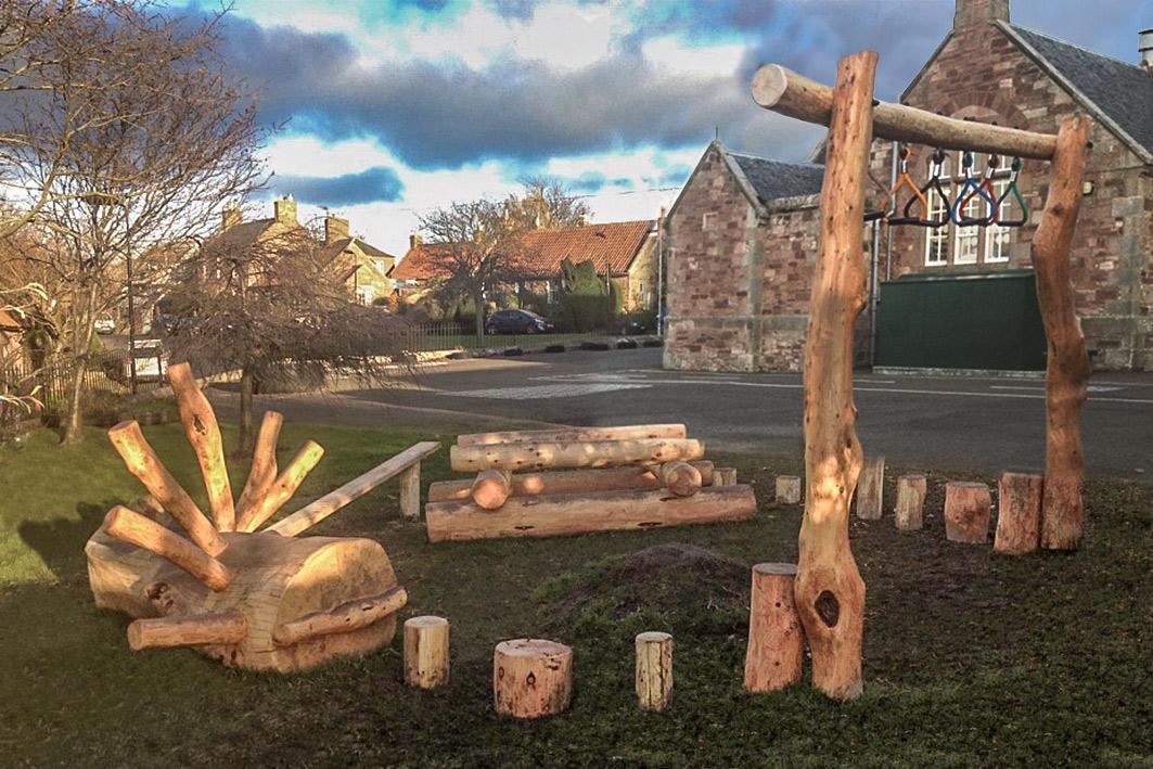 Bespoke outdoor play structure by Wildchild Designs